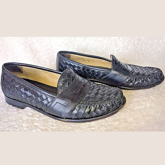 42c07e9632 Cole Haan Other - Cole Haan Penny Loafers Woven Leather Men 9.5